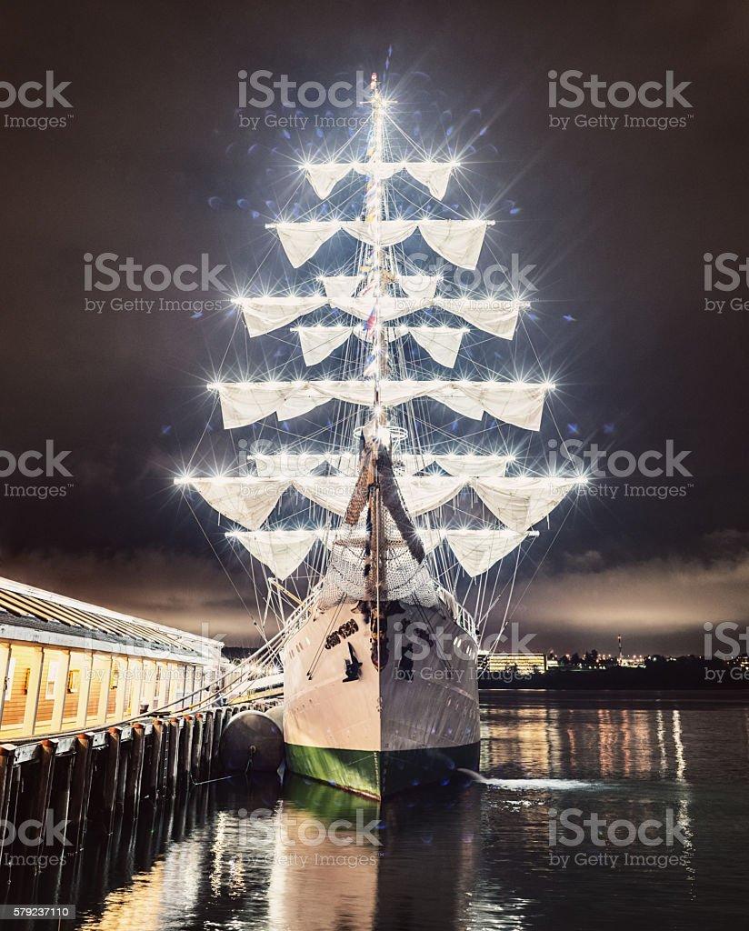 Illuminated Barque stock photo