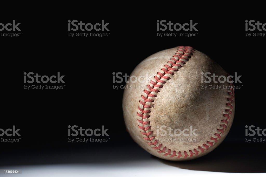 Illuminated baseball royalty-free stock photo