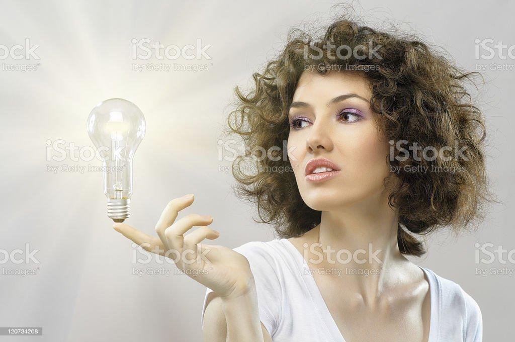 illuminated bulb royalty-free stock photo