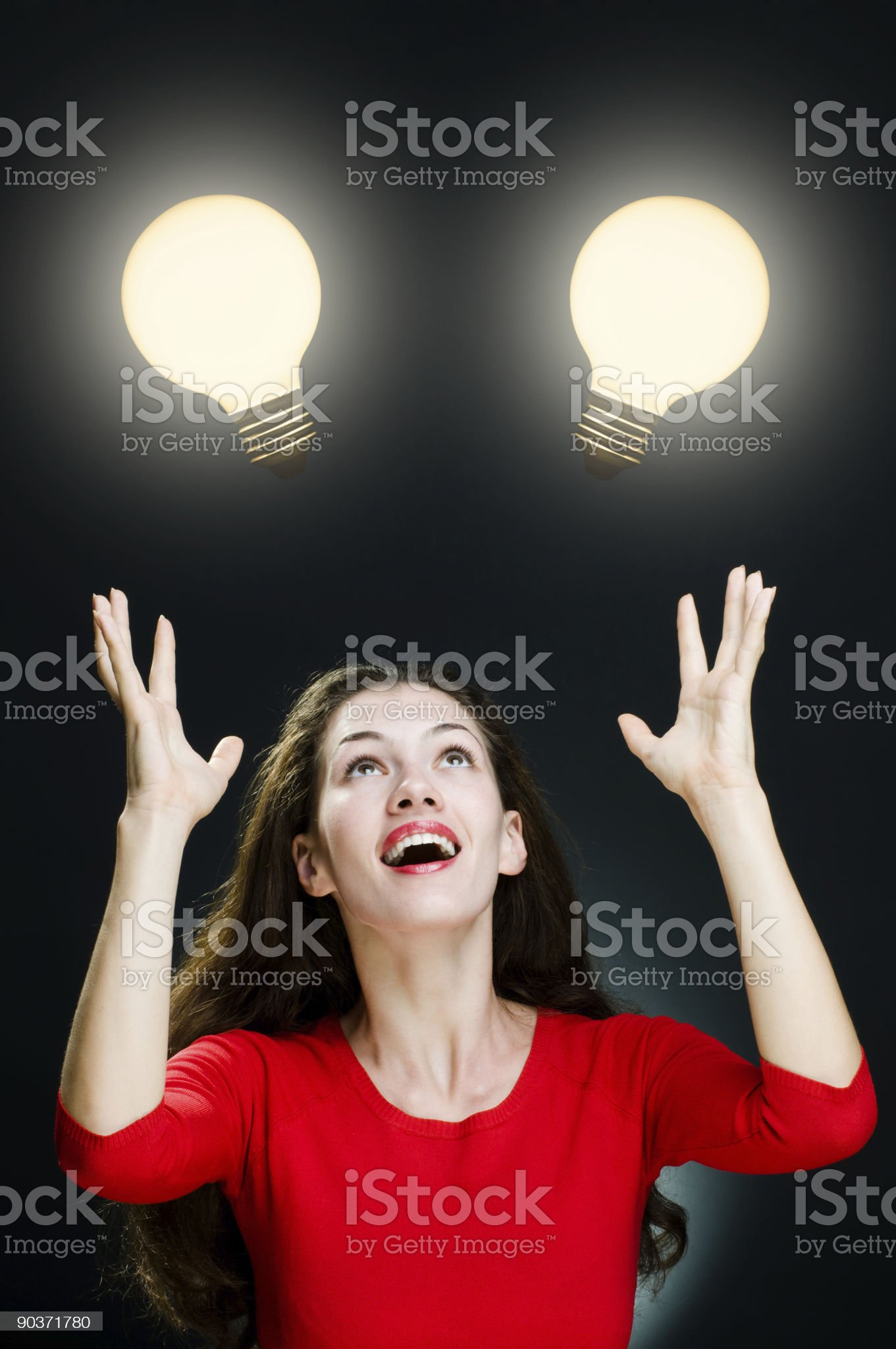illuminated bulb royalty-free stock photo