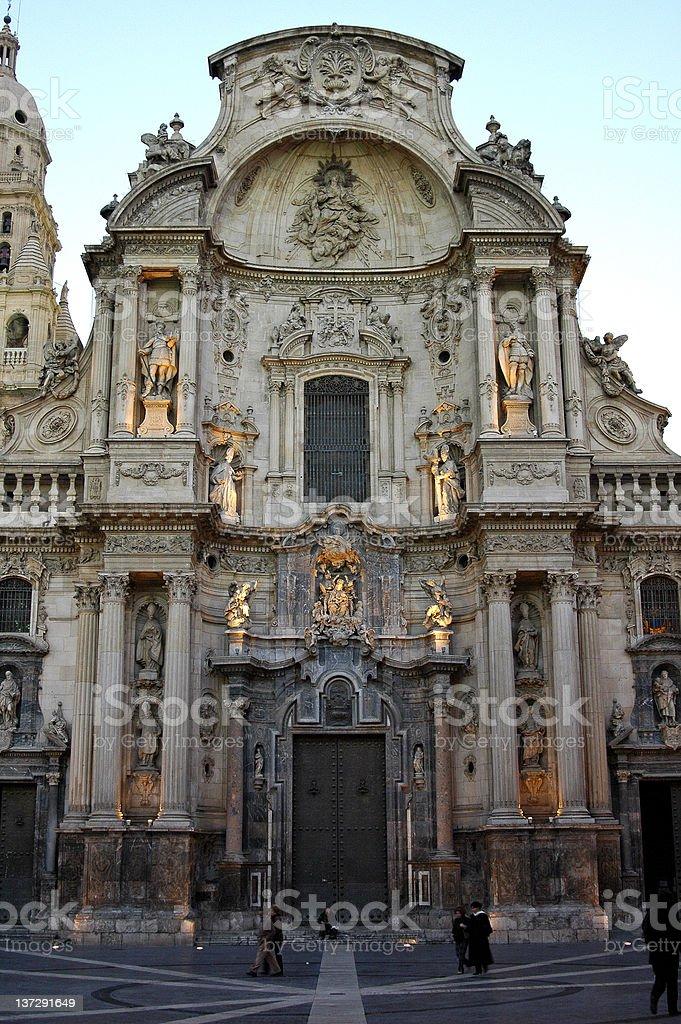 Illuminated cathedral royalty-free stock photo