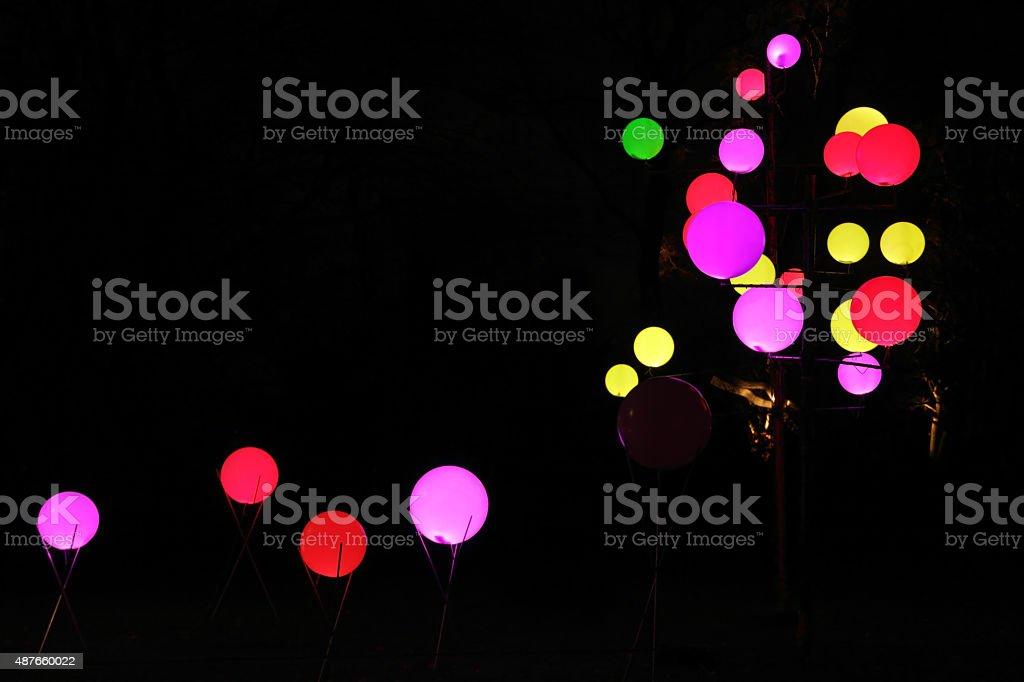 illuminated circles stock photo
