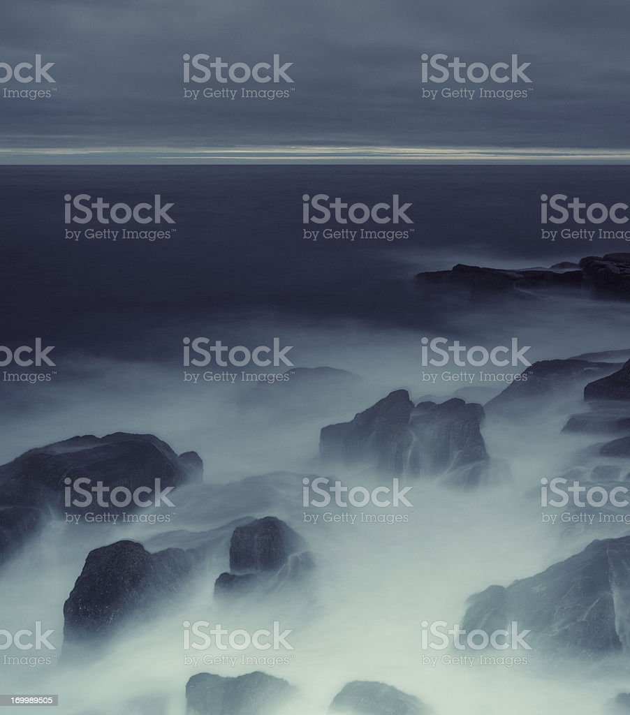Illuminated Coastline royalty-free stock photo