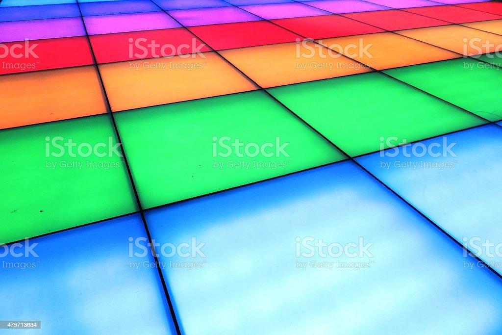 Illuminated colorful floor stock photo