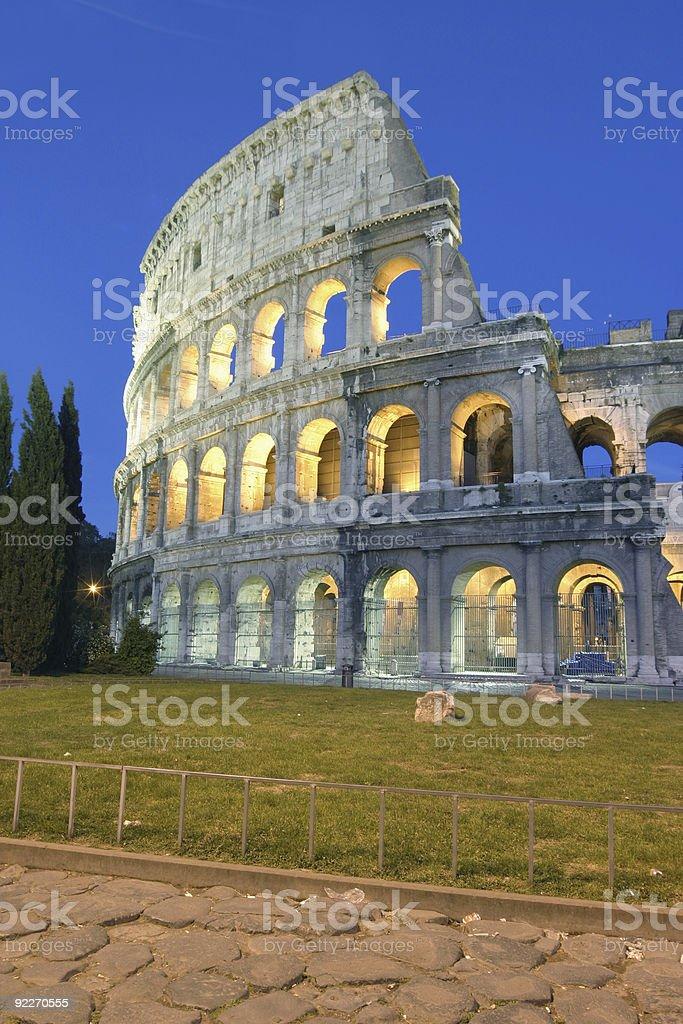 Illuminated Colosseum royalty-free stock photo