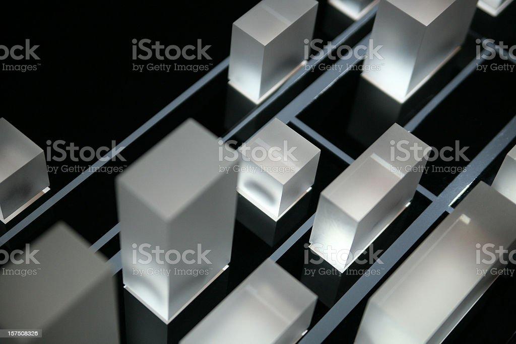Illuminated cubes of acryl royalty-free stock photo