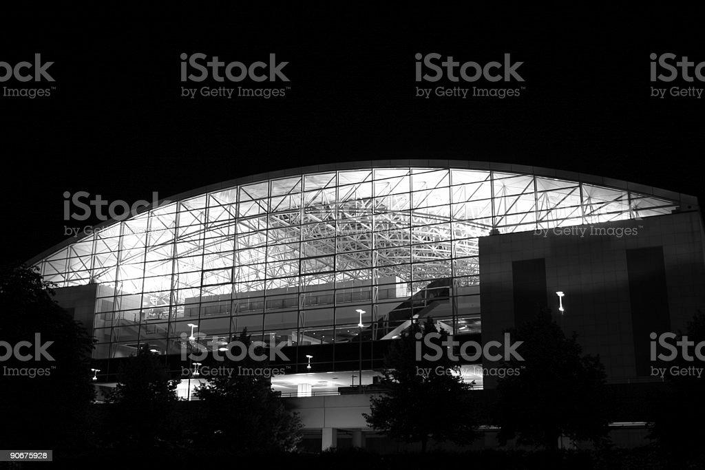 Illuminated dome (black / white) royalty-free stock photo