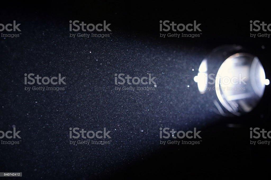 Illuminated dust stock photo