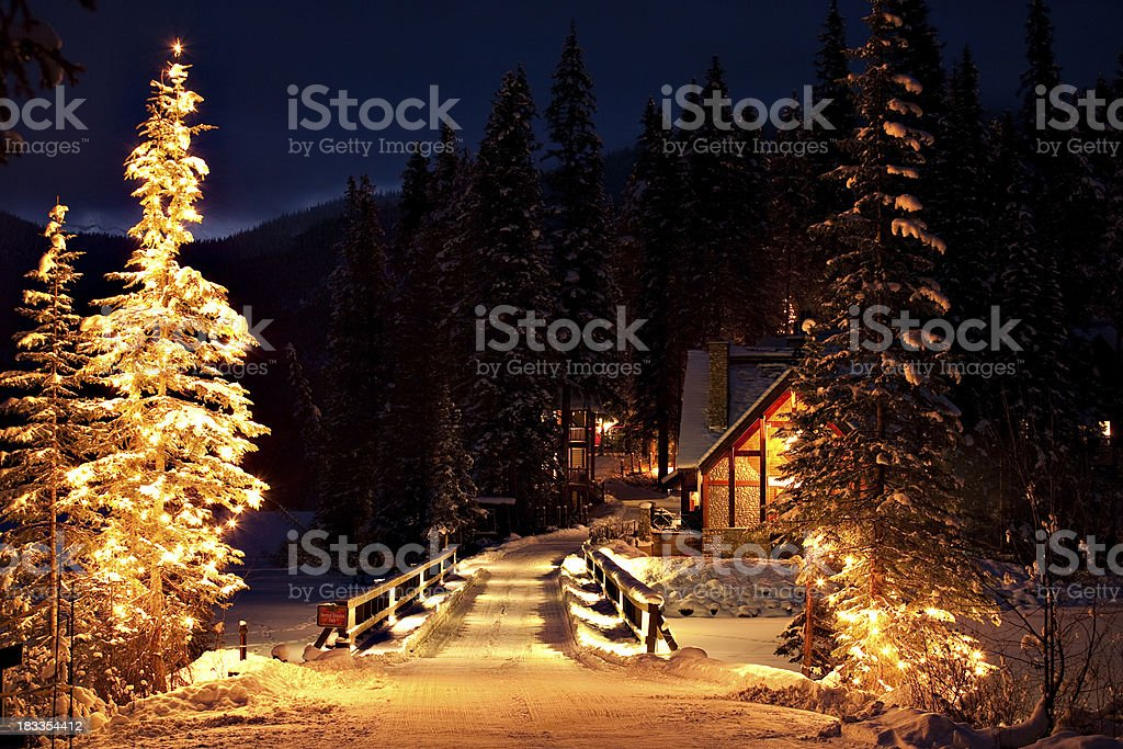 Illuminated Entrance stock photo