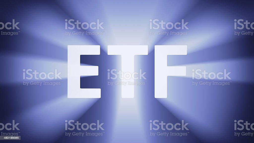 Illuminated ETF stock photo