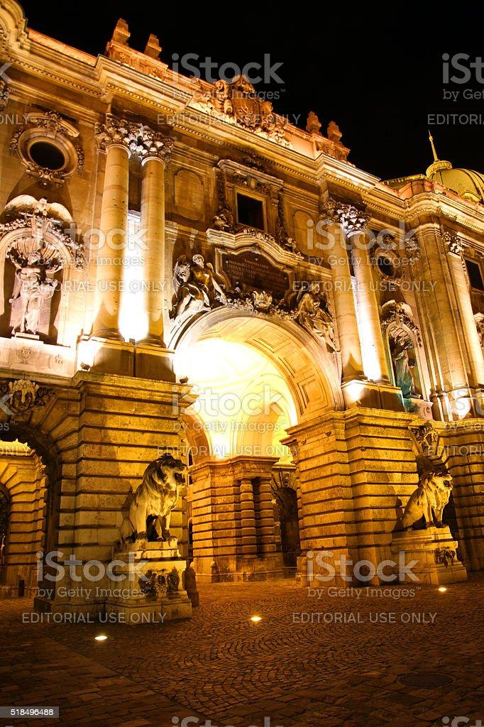 Illuminated Gate stock photo