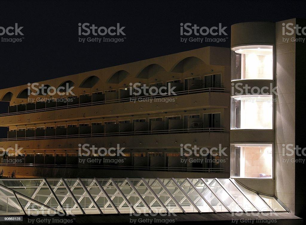 Illuminated Hotel royalty-free stock photo