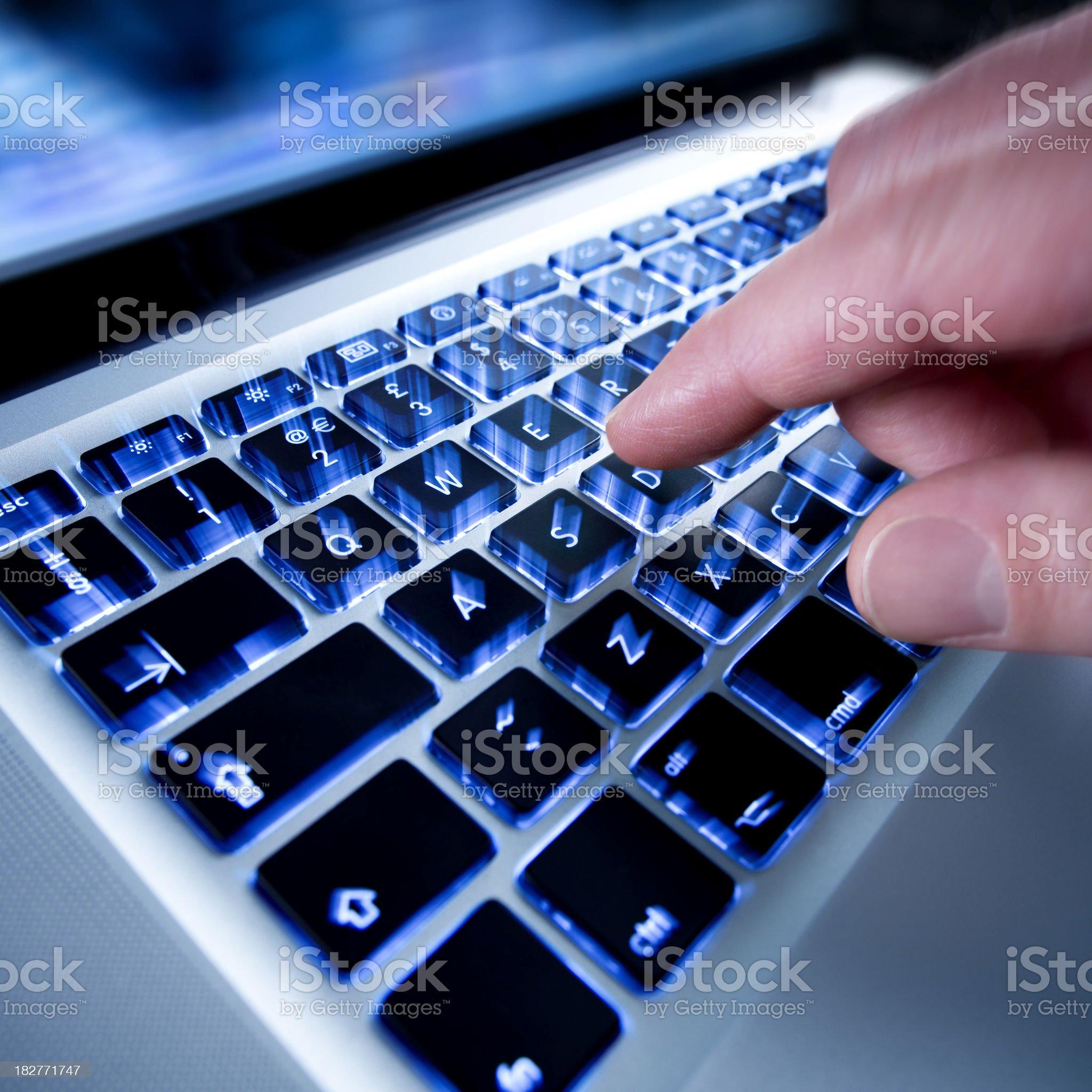 Illuminated Keyboard royalty-free stock photo