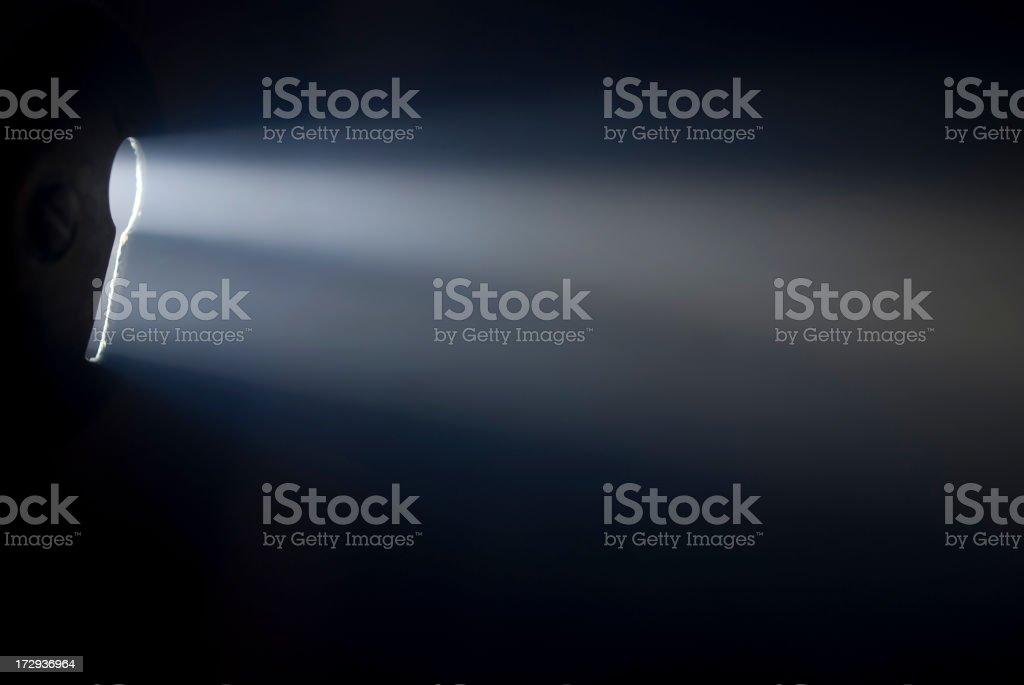 Illuminated keyhole stock photo