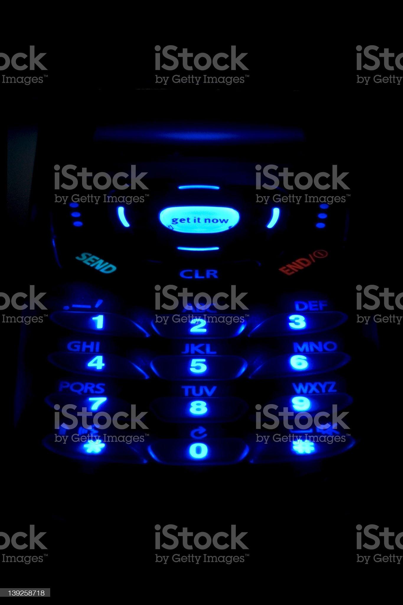 Illuminated keypad royalty-free stock photo