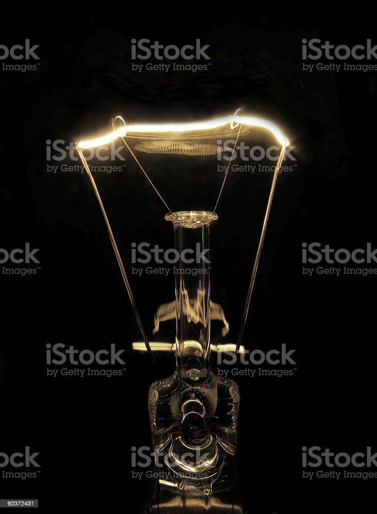 Illuminated light bulb stock photo