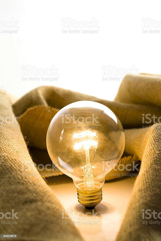 Illuminated light bulb royalty-free stock photo
