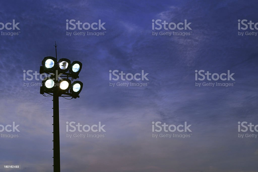 illuminated lights in a stadium royalty-free stock photo