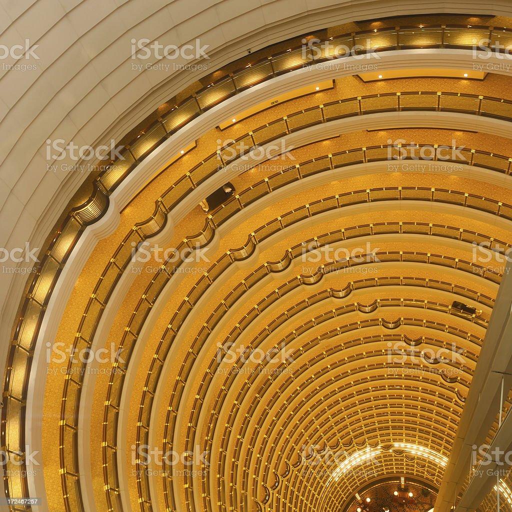 Illuminated luxury building interior royalty-free stock photo