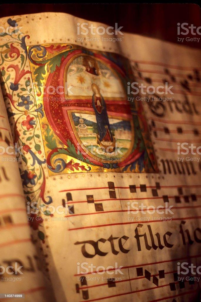 Illuminated manuscript royalty-free stock photo