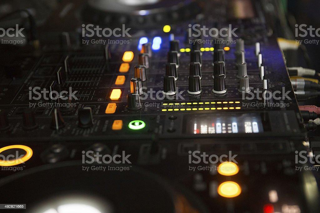 illuminated  music control royalty-free stock photo