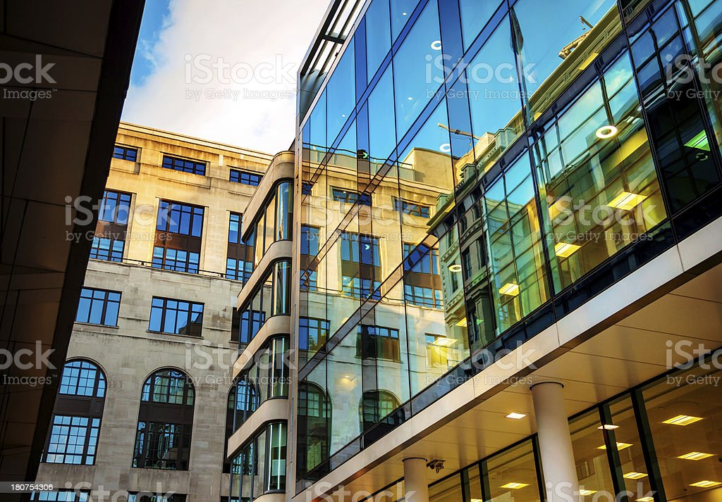 Illuminated Office Building royalty-free stock photo