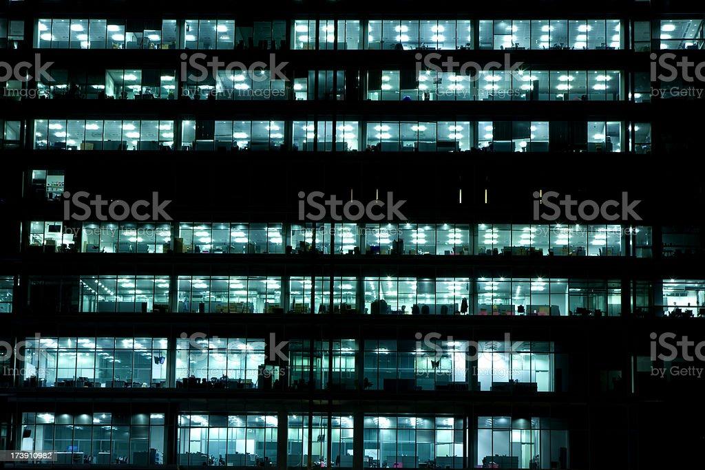 Illuminated Offices at Night royalty-free stock photo