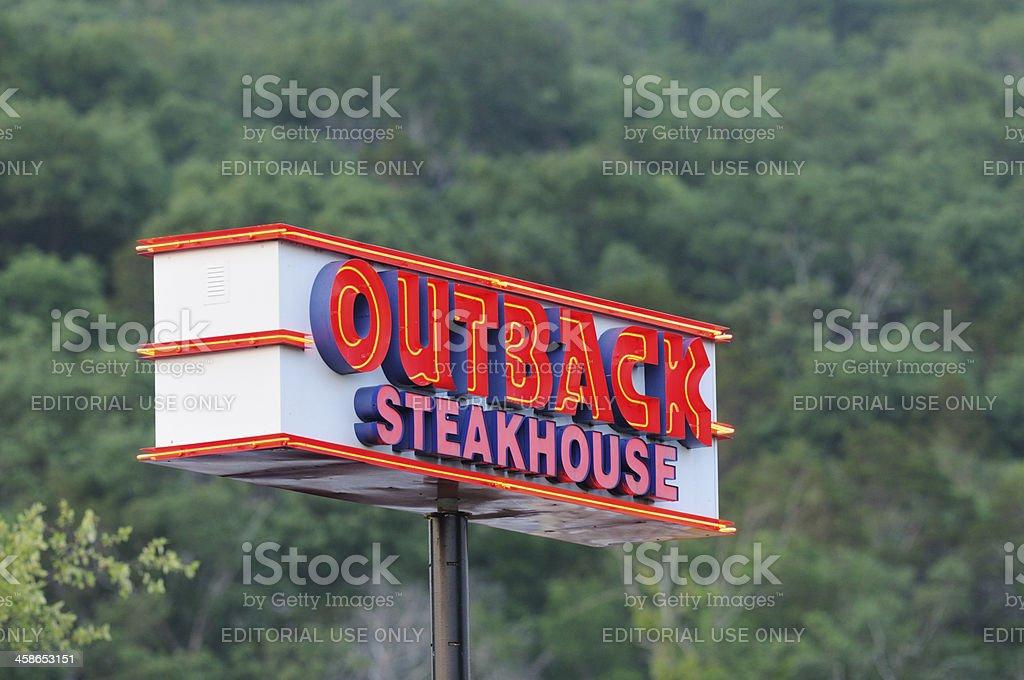 Illuminated Outback Steakhouse sign. royalty-free stock photo