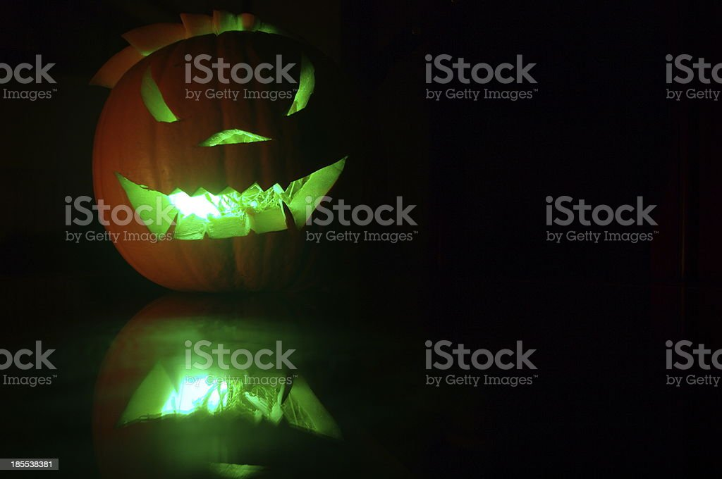 Illuminated Pumpkin royalty-free stock photo