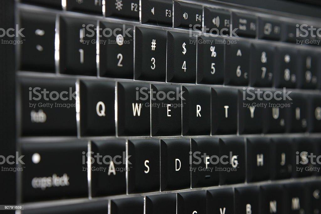 Illuminated QWERTY Keyboard stock photo