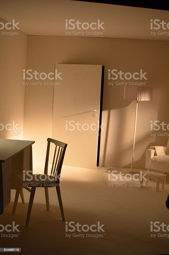 Beleuchtetes Zimmer stock photo
