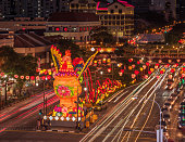 Illuminated rooster to celebrate Chinese New Year in Singapore