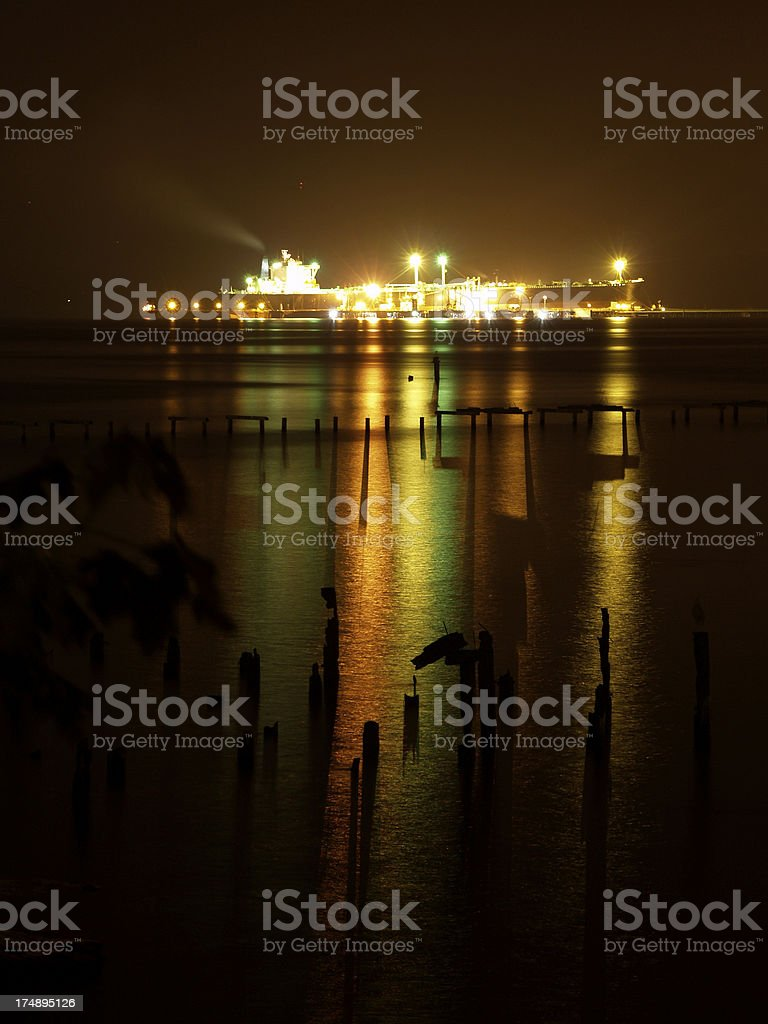 Illuminated Ship royalty-free stock photo
