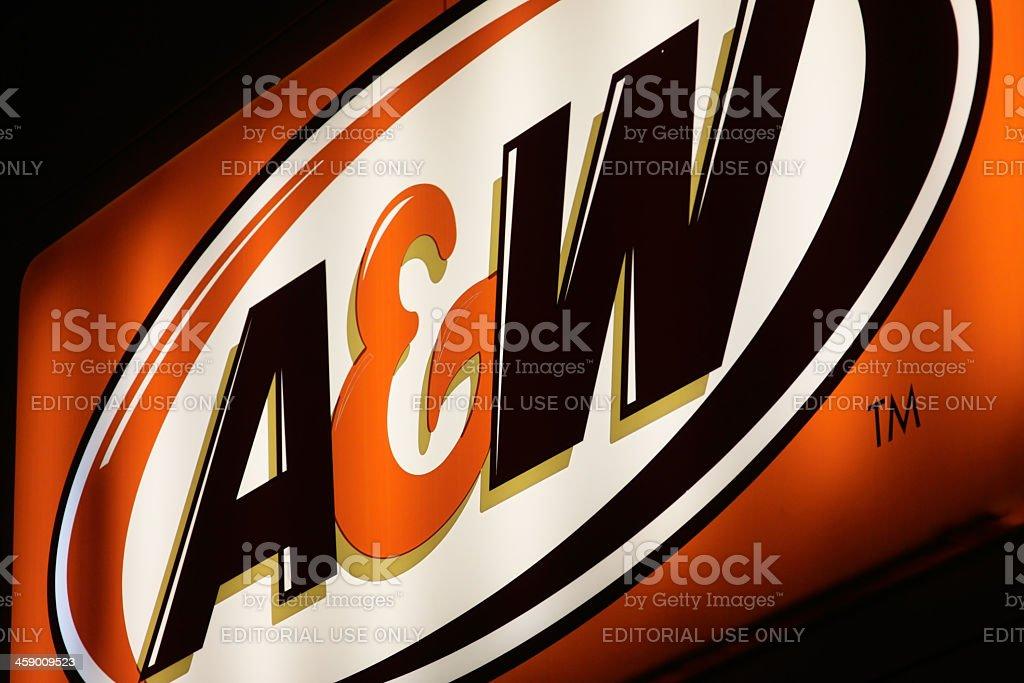 A&W Illuminated Sign stock photo
