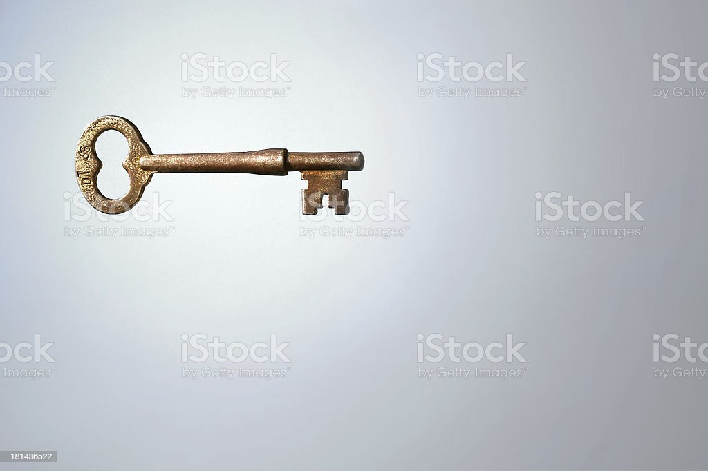 Illuminated Skeleton Key stock photo