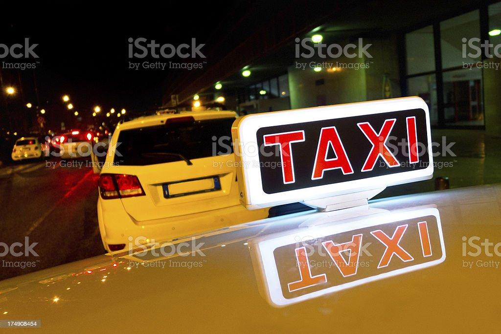 Illuminated Taxi Sign royalty-free stock photo