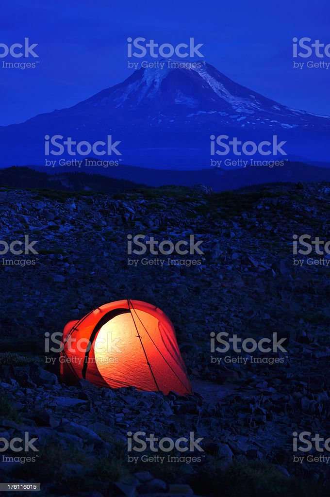 Illuminated tent royalty-free stock photo