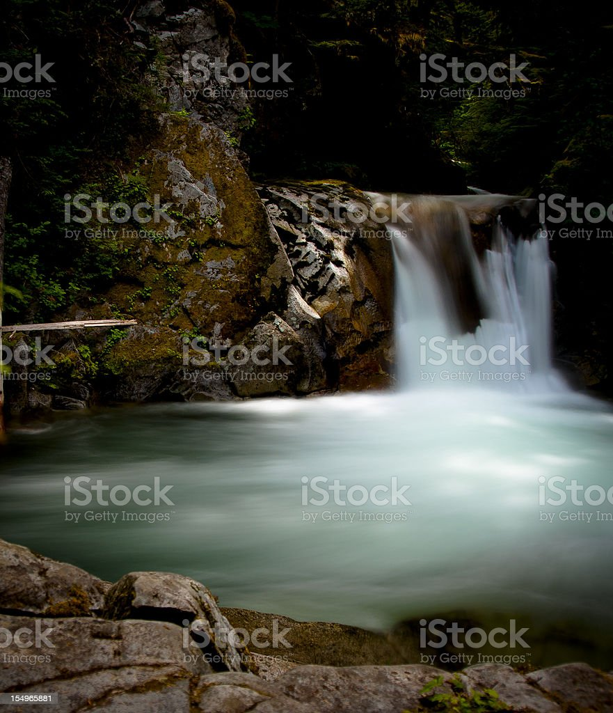 Illuminated Waterfall stock photo