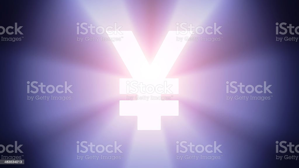 Illuminated Yen stock photo