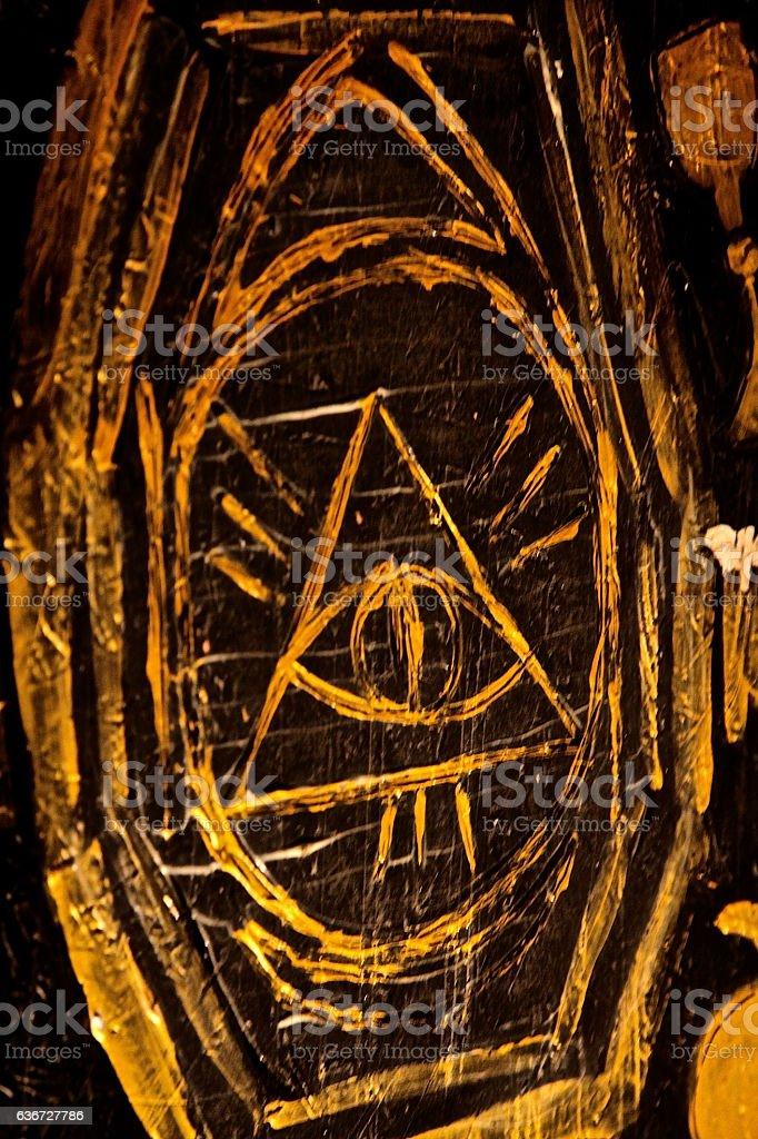 illuminati eye Freemasons pyramid symbol secret power religion stock photo