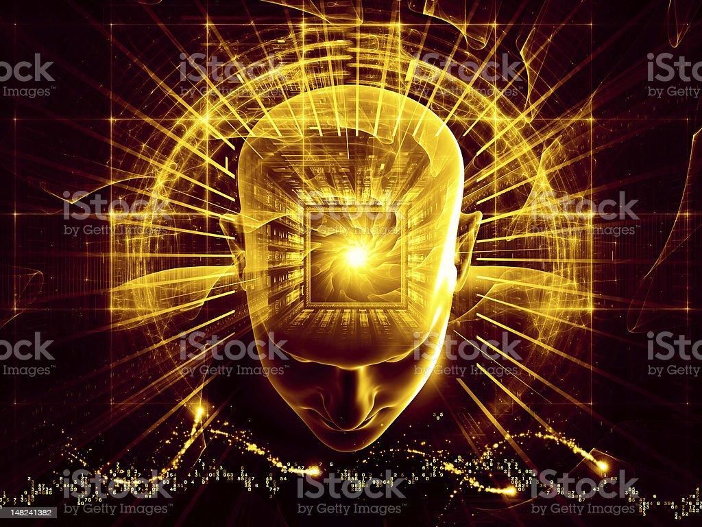 Illuminating Mind royalty-free stock photo