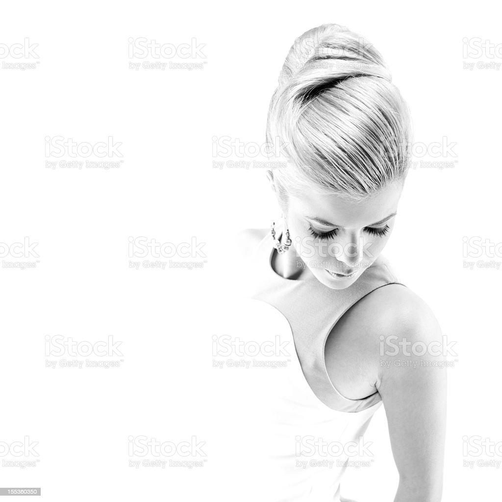 Illuminating woman royalty-free stock photo
