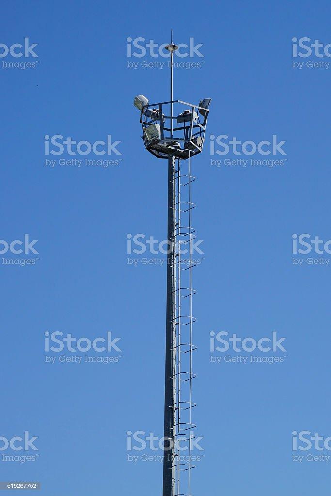 illumination and observation tower stock photo