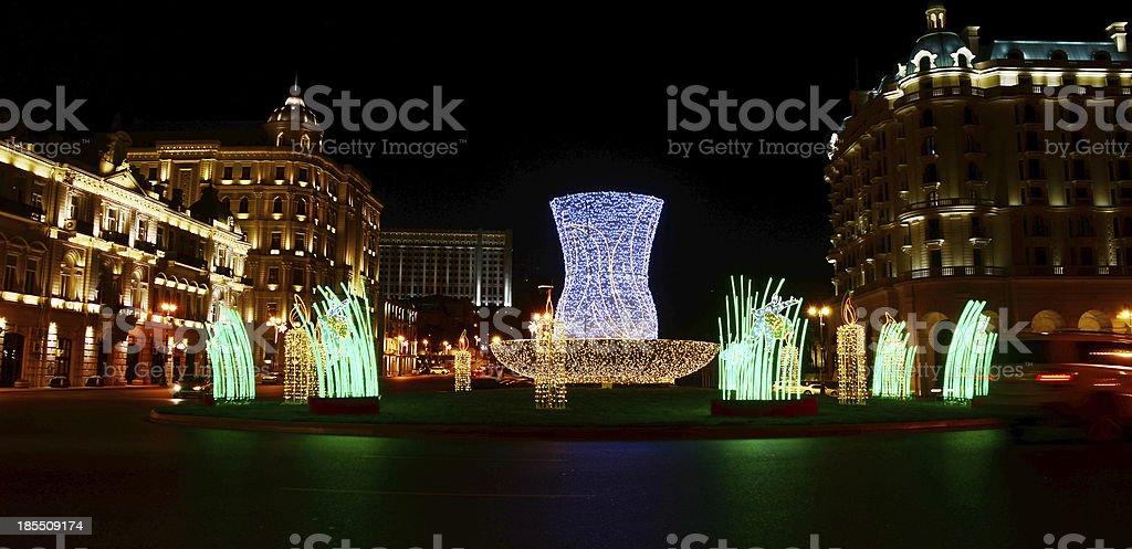 Illuminations in Baku. stock photo