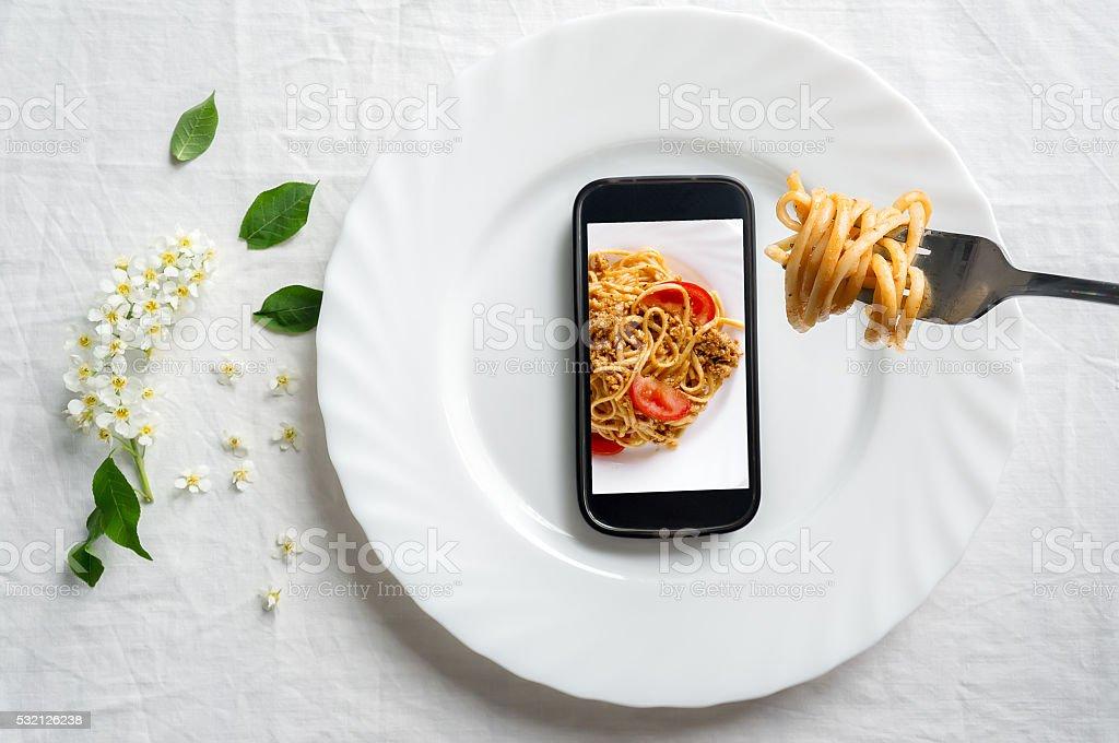 Ilusão com alimentos na cozinha foto de stock royalty-free