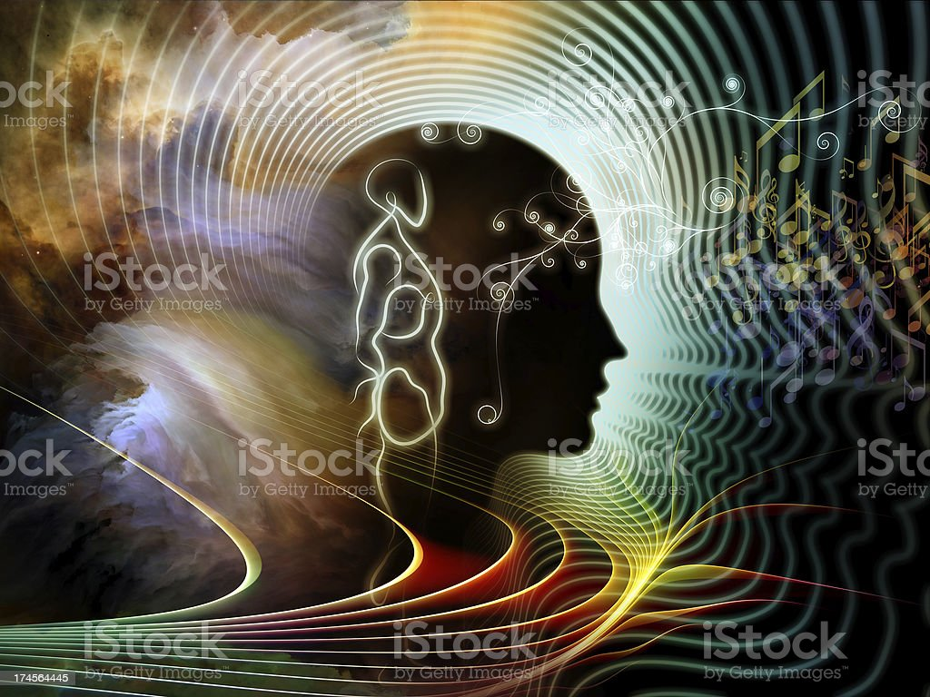 Illusions of Human Mind stock photo