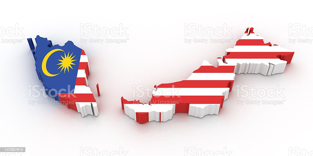 Illustrate photo of map of Malaysia stock photo