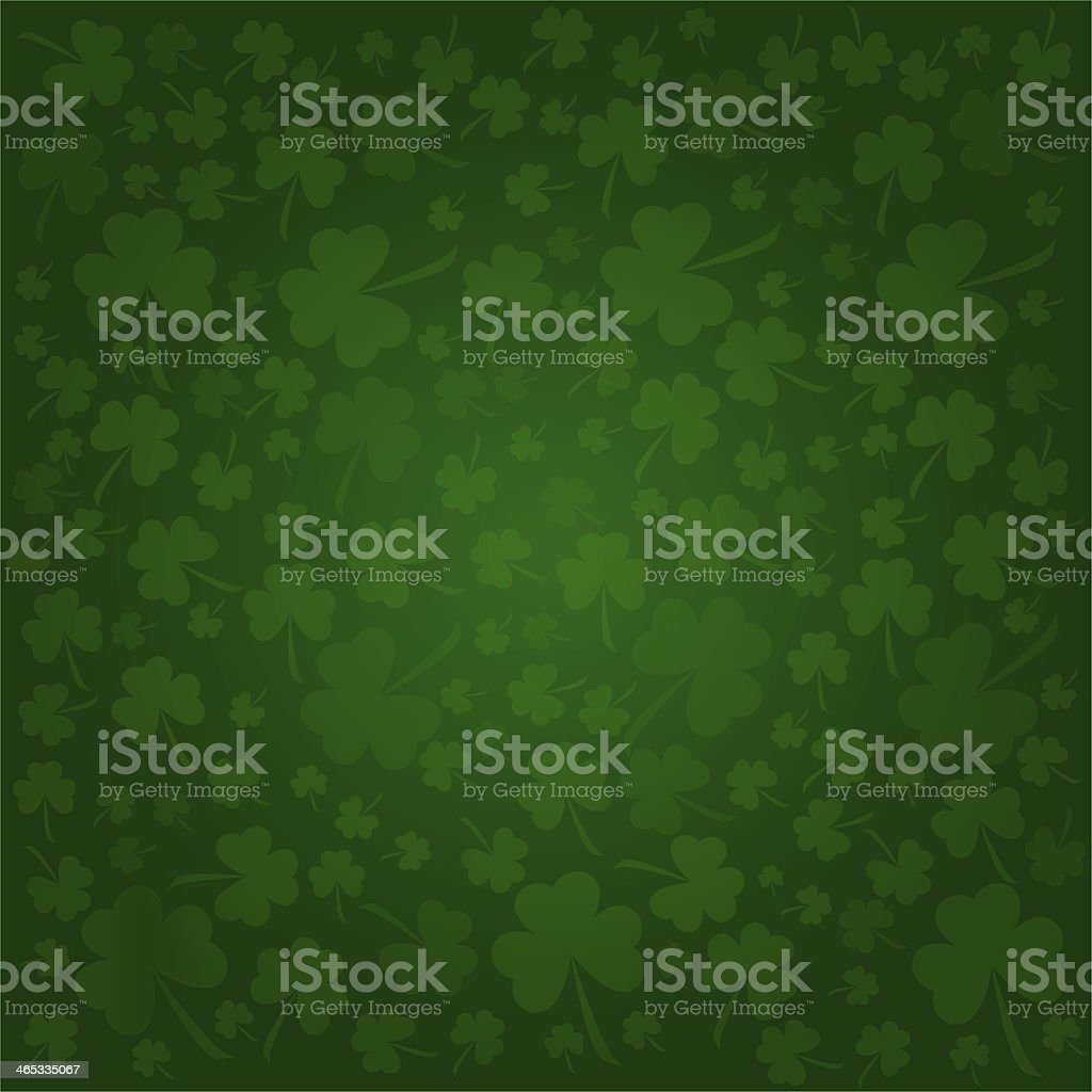 Illustrated clover background designed for St. Patrick's Day stock photo