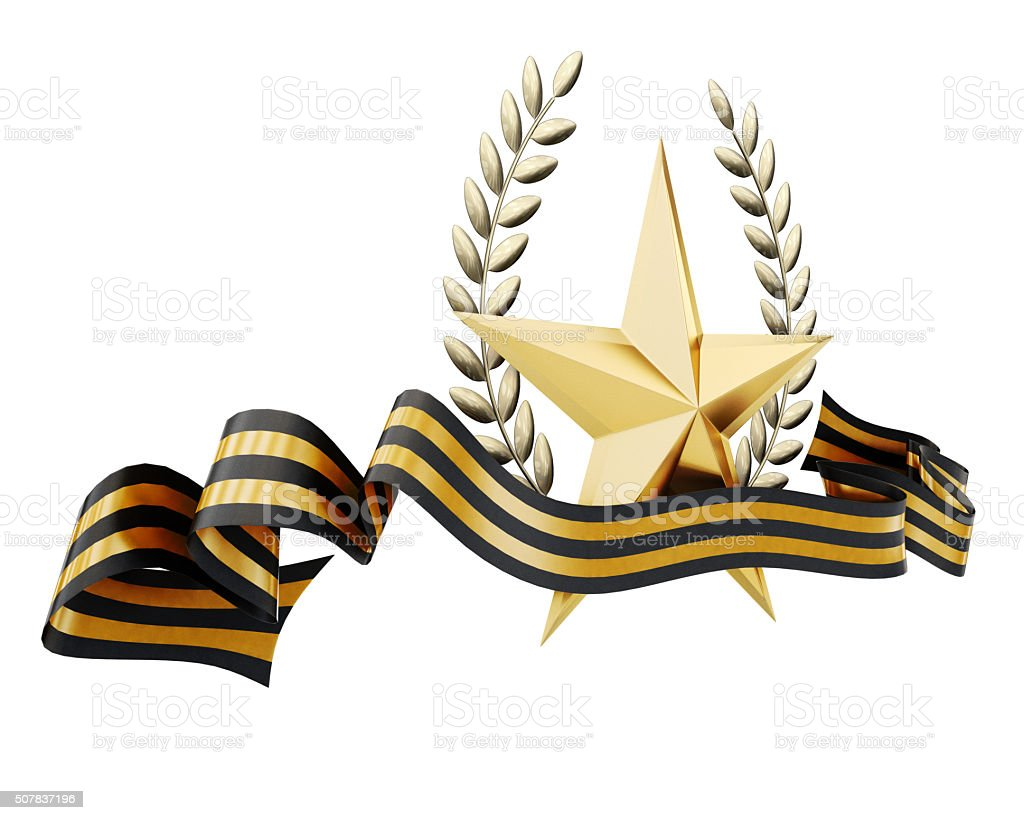 Illustration 23 February and victory day on white background. 3d stock photo