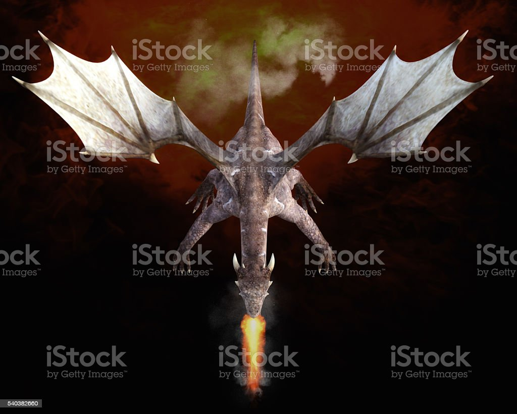 3D Illustration; 3D Rendering of a Dragon stock photo